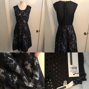 NWT Tracy Reese size 10 dress with velvet overlay